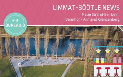 Limmat-Böötle: Ausstieg Glanzenberg Dietikon mit Beach-Bar und Musik #limmatböötle